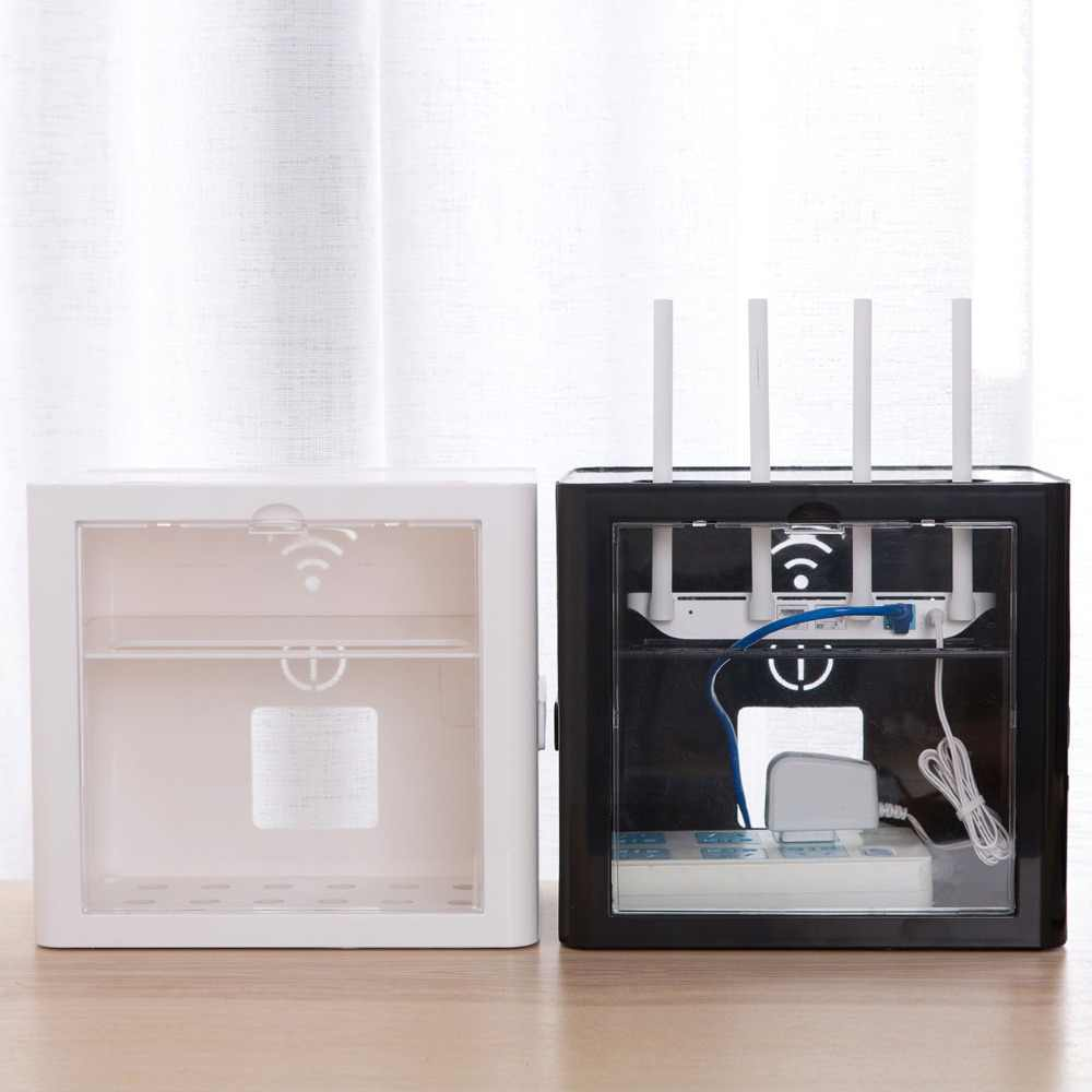 Wireless Wifi Router Storage box Cable Power Plug Wire Organizer Storage Box Shelf Rack Protection Shell Home Office