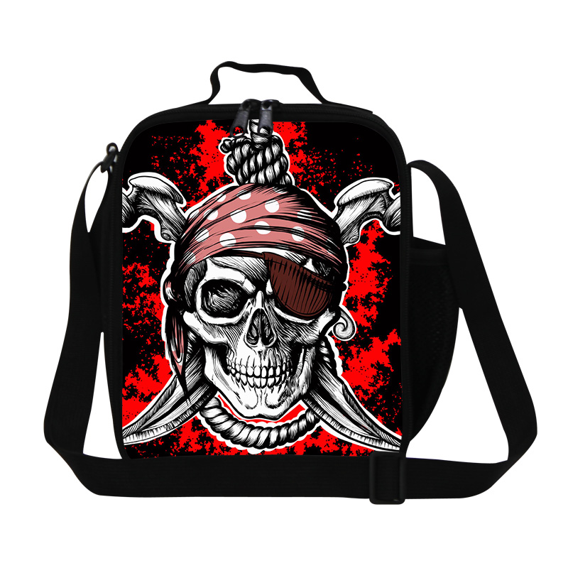 Skull Cooler Lunch Bags for Teenagers Cool Lunch Box Bag for Children Personalized Lunch Container for Adult Work Picnic bag