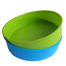 hot deal buy hot sale silicone mould bakeware 26cm/10inch round cake form baking pan blue and green colors are random