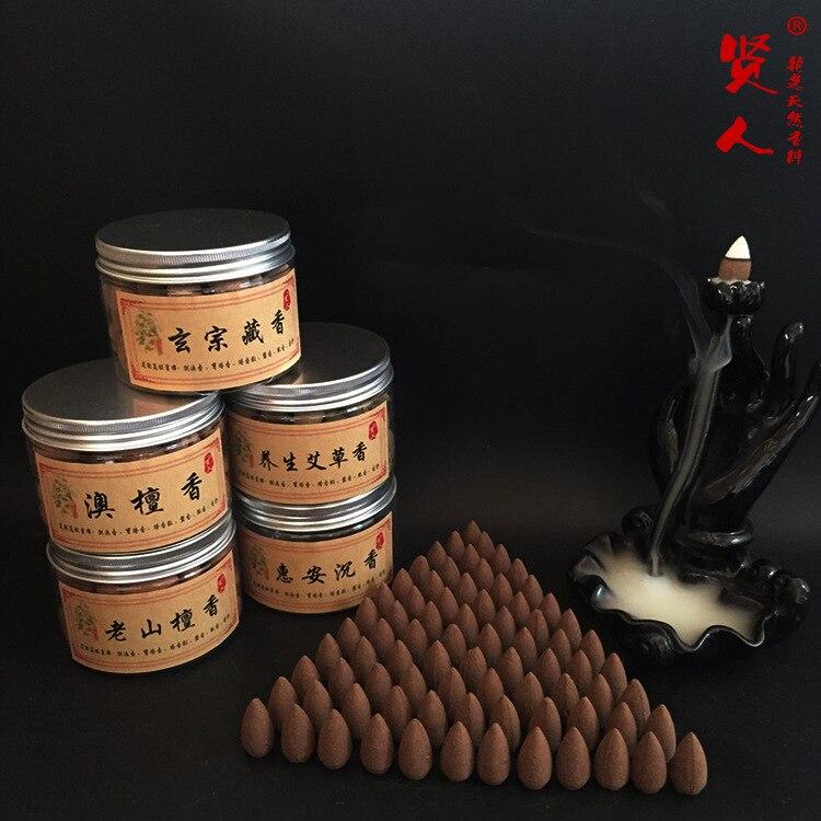 70 unids natural backflow cono fragante grano aromático sándalo natural uso en la sala de estudio Oficina