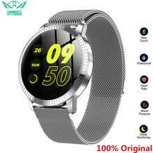 AMYNIKEER CF18 Smart Bracelet Heart Rate Blood Pressure Monitor Pedometer Health Tracking Waterproof Mens  Womens Watch Band