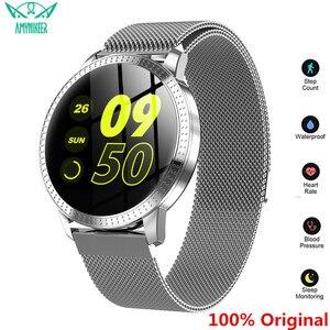 Image 1 - AMYNIKEER CF18 Smart Bracelet Heart Rate Blood Pressure Monitor Pedometer Health Tracking Waterproof Mens  Womens Watch Band