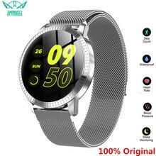 Amynikeer CF18 Smart Armband Hartslag Bloeddrukmeter Stappenteller Gezondheid Tracking Waterdichte Mannen Vrouwen Horloge Band