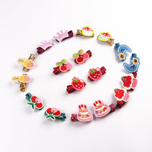 Korea Cotton Crown Cartoon Crystal Dolls Hair Accessories Little Girls Hair Clip Flower Shiny Hairpins Barrettes Hairgrips цена и фото