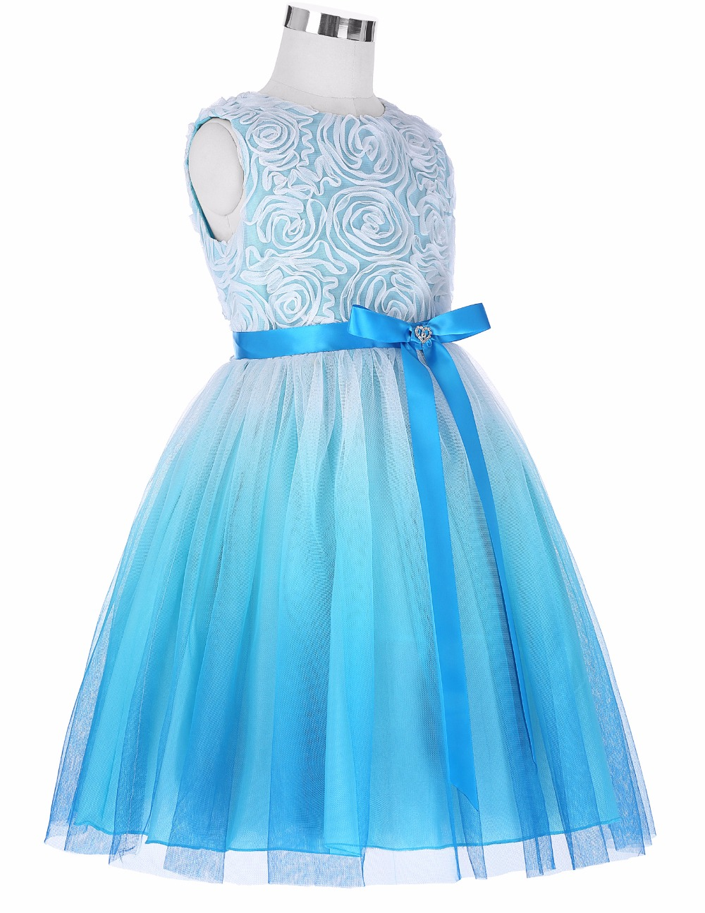 Grace Karin 2017 Flower Girl Dresses Luxury Tulle Flower Party Dresses For Wedding Party First Communion Dresses With Bow Ribbon 14