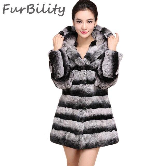Aliexpress.com : Buy High Quality For Womans Long Chinchilla Rex ...
