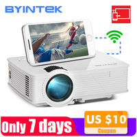 BYINTEK SKY BT140plus Mini LED Projector HD Home Theater Wireless Push Multi screen Airplay Mircast for Iphone Smartphone
