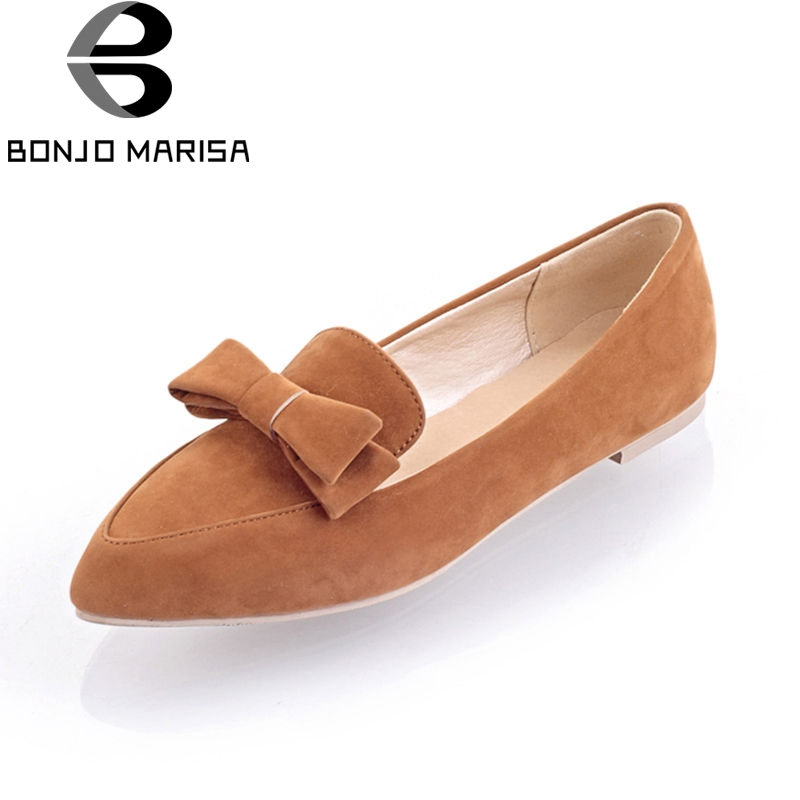 BONJOMARISA 2018 Summer Sweet Bow Flats Women slip-on Shallow Loafers Shoes Woman Big Size 34-43 Women Daily Casual Shoes new round toe slip on women loafers fashion bow patent leather women flat shoes ladies casual flats big size 34 43 women oxfords