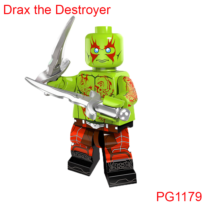 Drax The Destroyer Guardians Of The Galaxy Building Blocks Super Heroes X-Men Star Wars Mini Dolls DIY Gift Toys Hobbies Pg1179