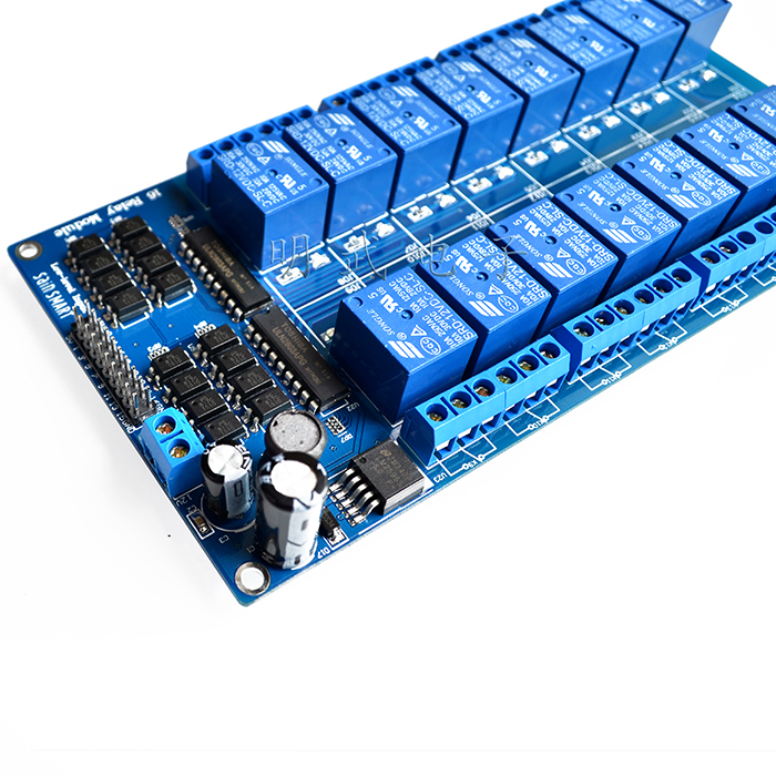 Free shipping : 16 relay module 5V 12V control board with optocoupler protection with the LM2596 power marxism and darwinism