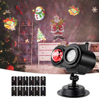 Christmas Wave Projector Lights Waterproof 2 in 1 LED Ocean Laser Projector Outdoor Halloween Xmas New Year Party DIY Decoration
