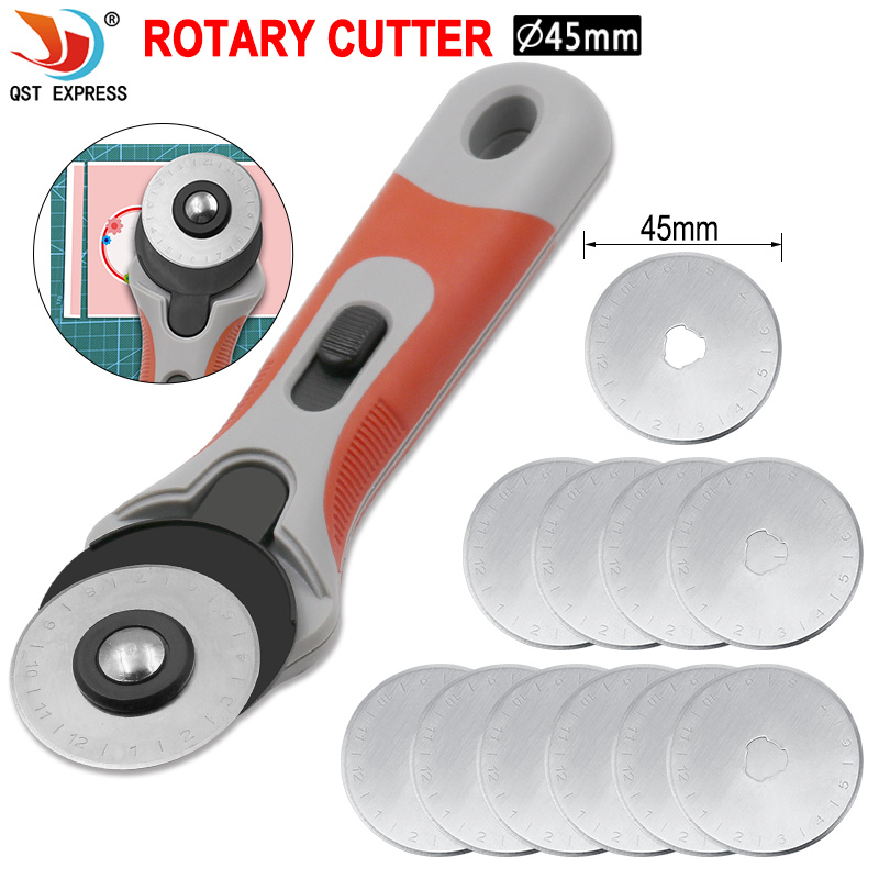 45mm Rotary Cutter Spare Blades Fit Olfa Dafa Fiskars Rotary Cutter Fabric Paper Circular Cutting Patchwork Craft Leather