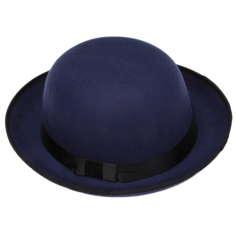a3c14d32448 Vogue Women Girl Vintage Wool Felt Hats Bowler Derby Fedora Trilby Hat  Bowknot Cap Jazz Hats HO873802-in Fedoras from Apparel Accessories on  Aliexpress.com ...