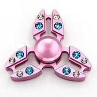 Ücretsiz Kargo Yeni Diamonds Fidget Spinner Renkli Metal El Spinner Anti Stres Oyuncaklar Hediye Adam Parmak Gül Altın Fidget Oyuncaklar