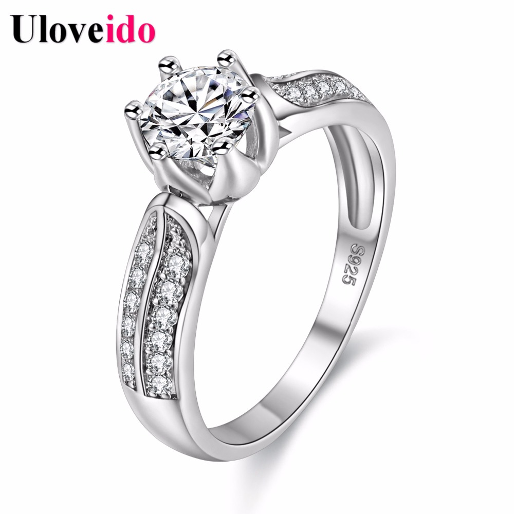 5% Off Silver Color Wedding Ring Rings For Women Birthday Gifts For Girls  Bague Femme