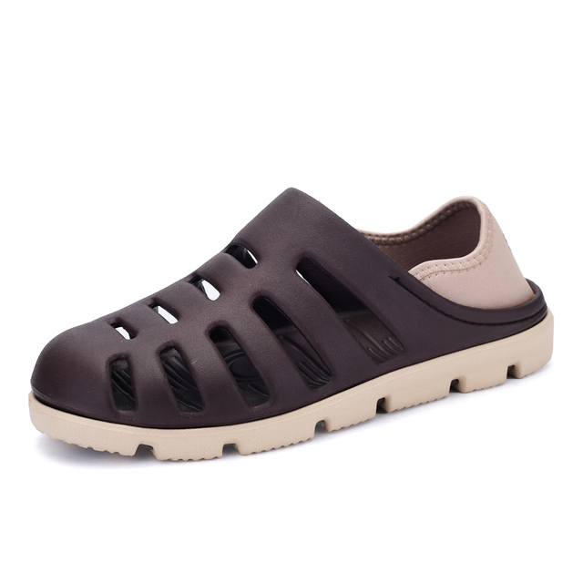 8d9fadcf1 2017 Men Summer Hole Beach Sandals Casual Shoes Men EVA Slippers Breathable Rubber  Sandals Slip-On Sandalias Zapatillas Hombre