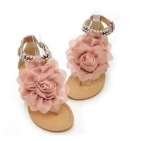 Hot Fashion Gladiator Sandals For Women Female Beaded Flower Flat Summer Flip Flop Flats Women S