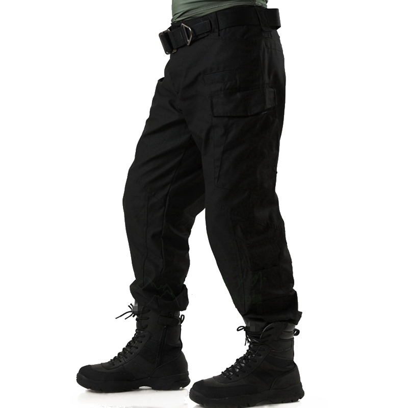 Free Shipping Tactical Cargo Outdoor Hunting Fishing Pants Men Combat Hiking Army Training Military Pants Sport Trousers Black