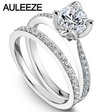 Flower Rings For Women Fine Jewelry Moissanites Engagement Ring Set 14K White Gold Rings Lab Grown Diamond Wedding Bride Set