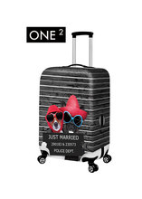 ONE2 Cute Animal Design Print Spandex Luggage Cover for Couple Travel Suitcase Case Apply to 22~30 Inch
