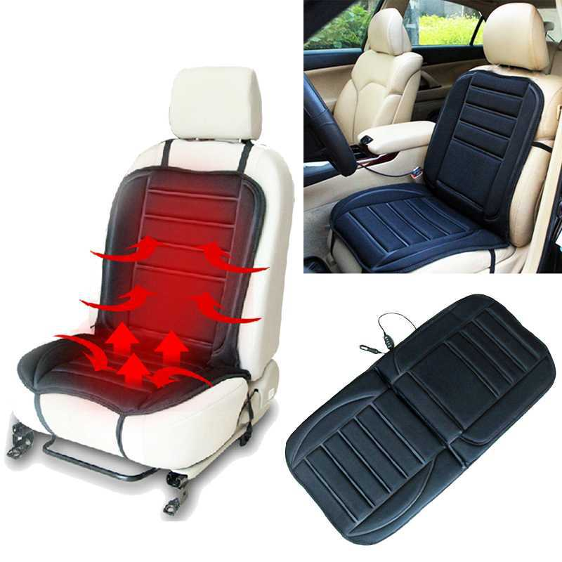 1PCS Car seat cushion warm in winter Car Heated Seat Cushion Hot Cover Auto 12V Heat Heater Warmer Pad-winter Black