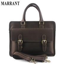 High quality briefcase crazy horse leather men bag genuine leather business bags men briefcases leather laptop bag portfoilo