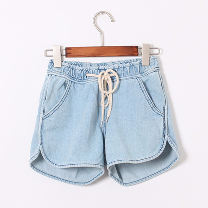 HTB19FoTJFXXXXc7XFXXq6xXFXXXK - Summer Women Drawstring Denim Shorts PTC 197