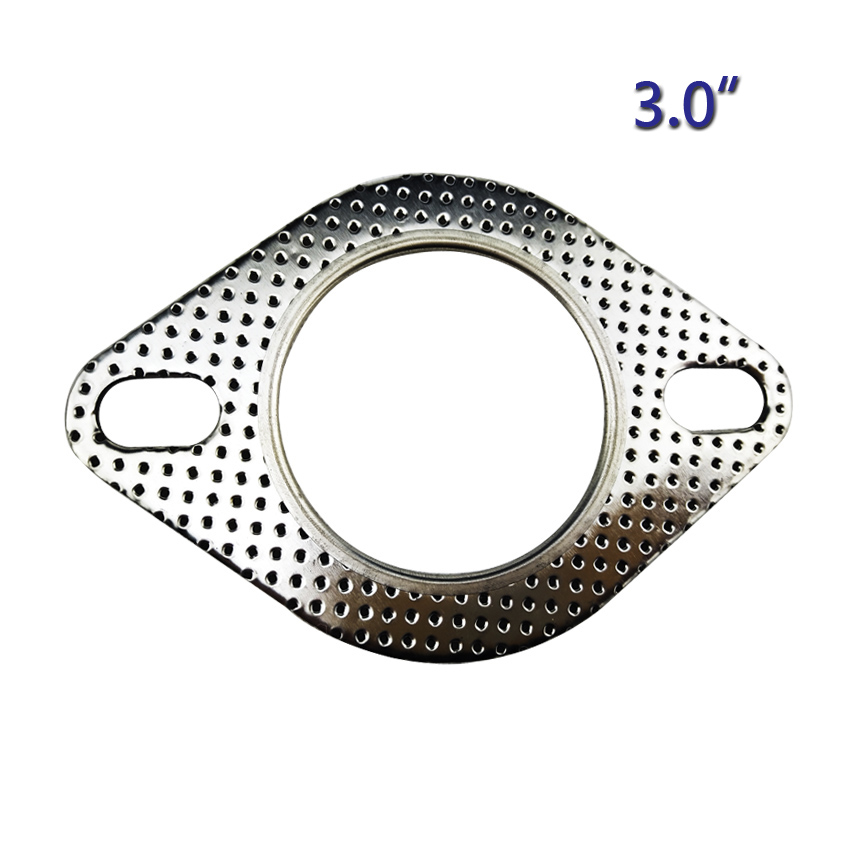 3 inch 76mm universal performance exhaust gasket 2 hole repair flange joint performance exhaust vehicle parts accessories