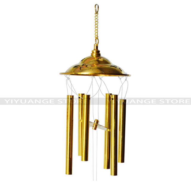 Feng Shui Copper Windchimes 6 Bells Pentagon Pavilion Money Luck And A  Thriving Busines Wind Chimes