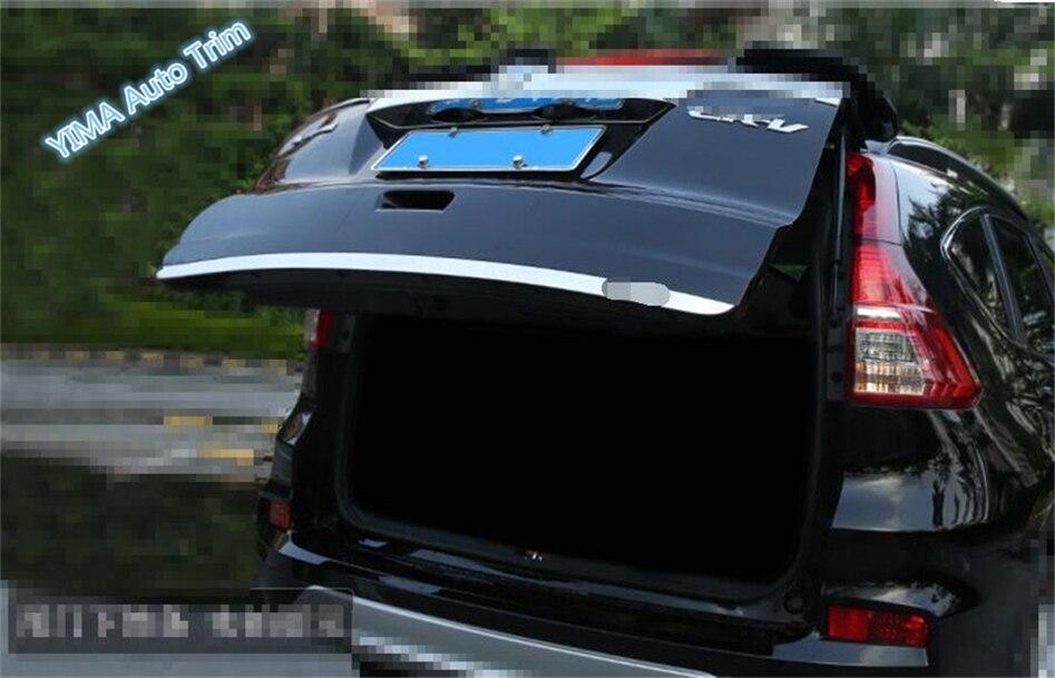 1 PCS Coperchio portellone Posteriore Coperchio portellone Posteriore in Acciaio Inossidabile Car Styling Decorazione per Honda CRV CR-V 2012-2016