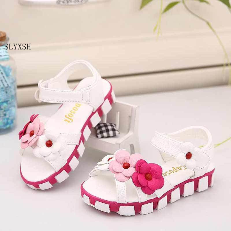 Girls Sandals For 2-7 Ages Peep Toe Bowtie Princess Sandals Kids Party Shoes For Girl Size 21-30 Children Summer Shoes