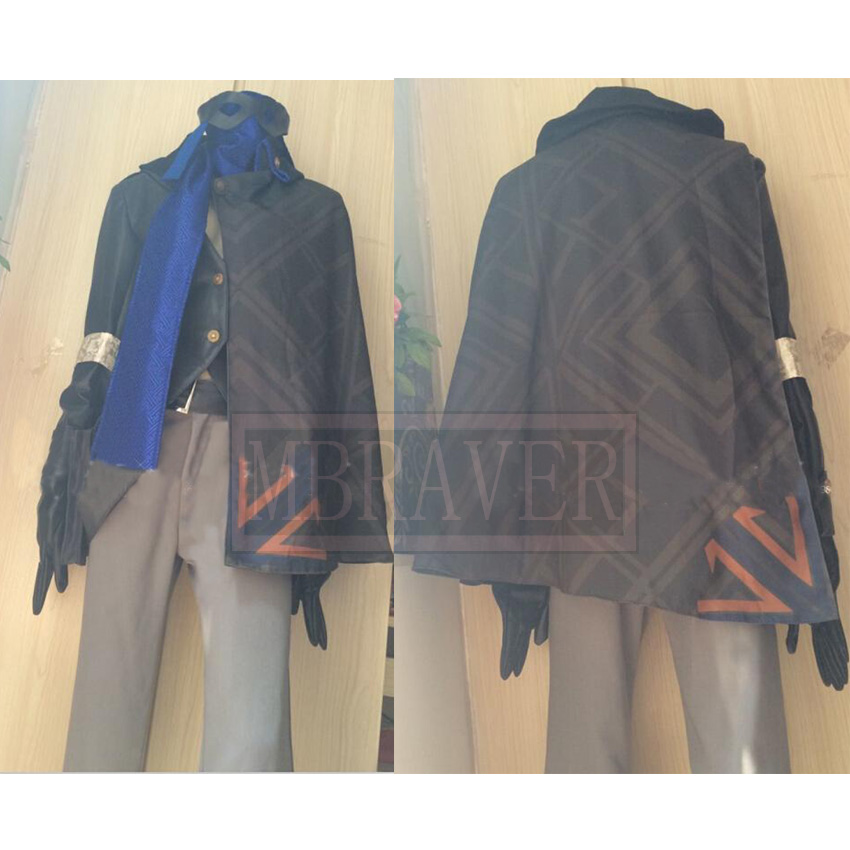 OW Jesse McCree Cosplay Costume Halloween COS With Golves+Scarf Custom Made Any Size