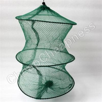 2016 New Foldable Crab Fish Crawdad Shrimp Minnow Fishing Bait Trap Dip Net Cage Special Zipper Nylon Fishing Net Cage