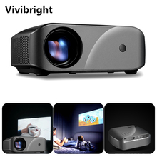 Светодиодный проектор Vivibright F10, разрешение 1280*720, поддержка Full HD, домашний кинотеатр, портативный мини проектор для 3D проектора