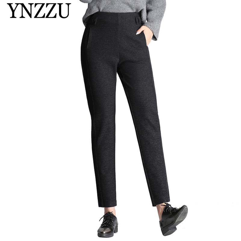 2019 Spring New Women Pants Casual High Waist Elastic -2982