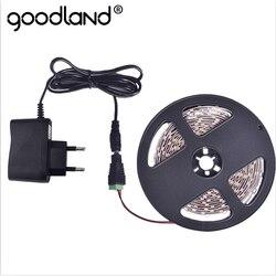 Goodland RGB Светодиодная лента 12 В SMD3528 5 м Светодиодная лента световой полосы Гибкая Диодная лента 2A DC12V красный зеленый синий желтый белый теплы...