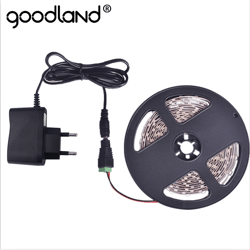 Goodland RGB LED Strip 12V SMD3528 5m Ribbon LED Light Strip Flexible Diode Tape 2A DC12V Red Green Blue Yellow White Warm White