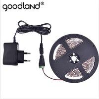 Goodland RGB LED Streifen 12V SMD3528 5m Band LED Licht Streifen Flexible Diode Band 2A DC12V Rot Grün blau Gelb Weiß Warmweiß