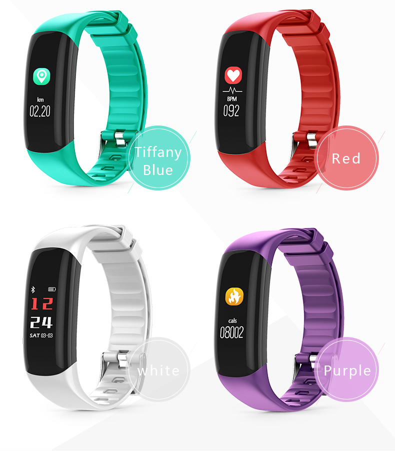 P7 Smart Wristband Bluetooth 4.0 Band Heart Rate Monitor Sport IP67 Waterproof OLED Smartband Bracelet For Android IOS Phone (18)