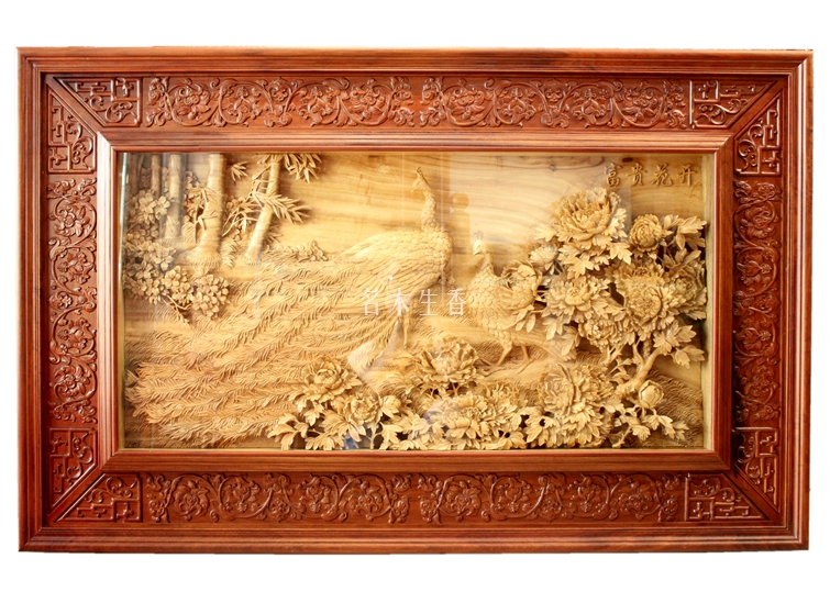 Dongyang wood carving boutique hanging wall hanging plaque plug seat ...