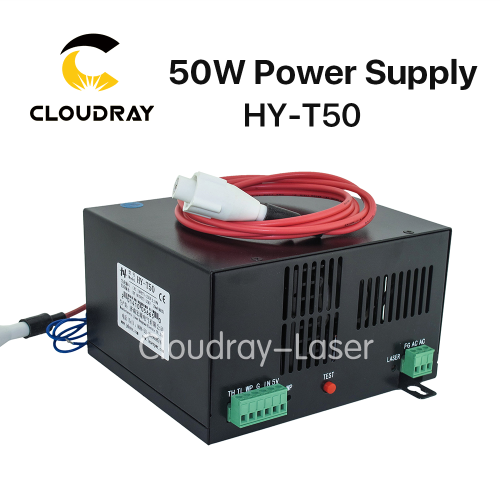 Cloudray 50W CO2 Laser Power Supply for CO2 Laser Engraving Cutting Machine HY-T50 high voltage flyback transformer hy a 2 use for co2 laser power supply
