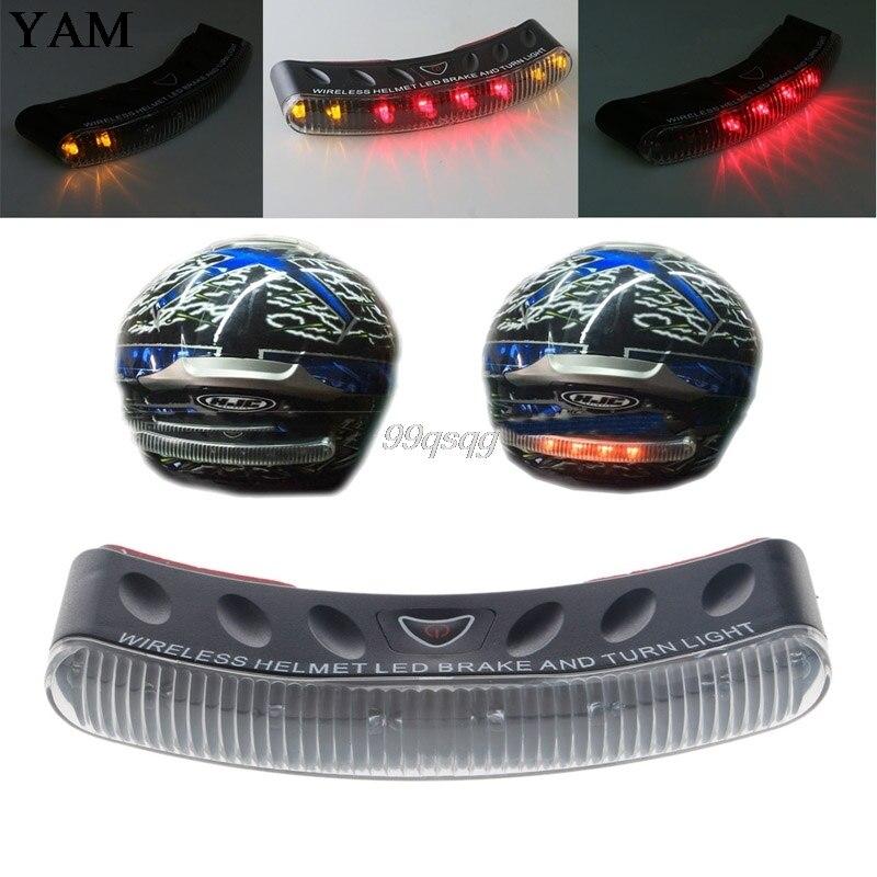 Universal 8 LED Motorcycle 2.4G Wireless Helmet Turn Signal Warning Racer Light New Drop shipping