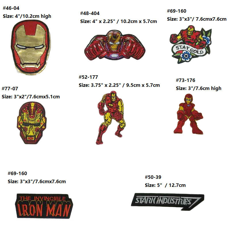 2 X IRON ON Transfer Avengers Cartoon 13.5 X 20 CM