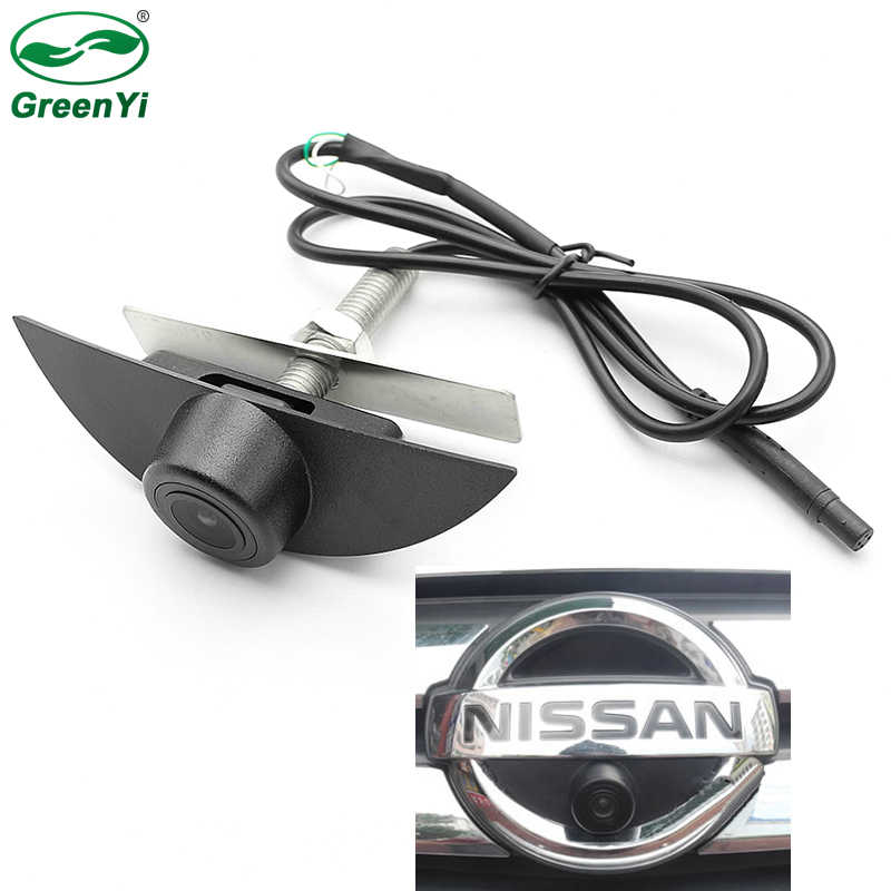 Cámara CCD HD de visión nocturna Cámara de visión frontal con logotipo de vehículo para Nissan x-trail Tiida Qashqai Livina fairlady Pulsar Cube Armada