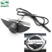 Ccd hd visão noturna câmera de visão frontal do logotipo do veículo câmera para nissan x-trail tiida qashqai livina fairlady pulsar cubo armada
