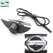 CCD HD gece görüş ön görüş kamerası araç logosu kamera Nissan x trail Tiida Qashqai Livina fairlady Pulsar küp Armada