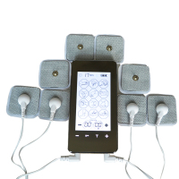 2 Channel Touch Screen Smart Tens Unit Electronic Pulse Massager 12Mode Electro Therapy Machine Device With 4Pair Electrode Pads