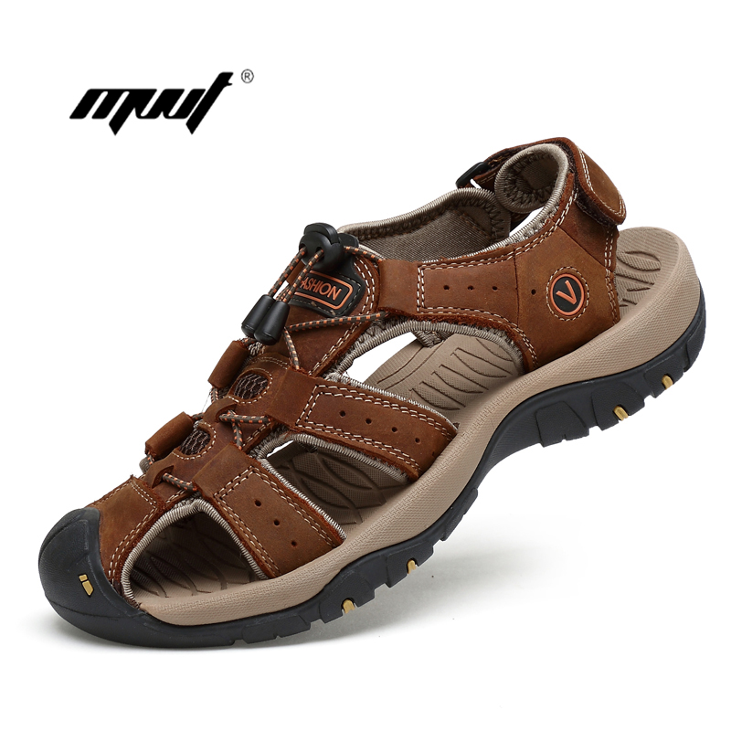 Summer Beach Shoes Casual Shoes genuine Leather Men Sandals Outdoor Male Men's Summer Sandals lady sandals vietnam shoes leather sandals female sandals 2017 outdoor lovers casual summer sandals