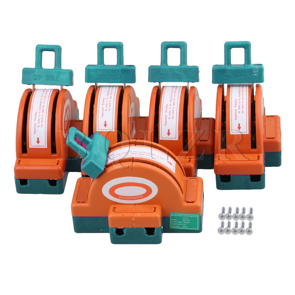 купить 5x BQLZR 32A 2 Pole Double Throw DPDT Knife Safety Disconnect Switch Industrial по цене 1758.82 рублей