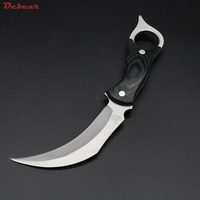 Dcbear High Quality Claw Knife Fixed Blade 440C Steel Karambit Knife Hunting Survival Tools Outdoor Tops